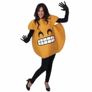 Lachende emoticon kostuum volwassenen
