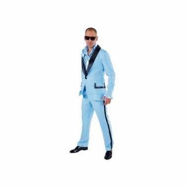 Lichtblauw gangnam kostuum heren