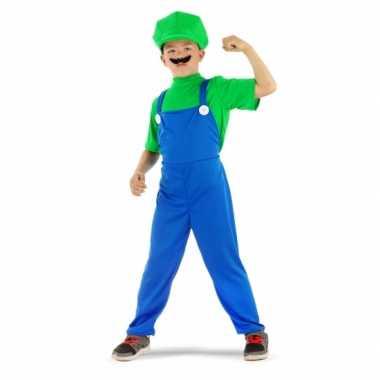 Loodgieter kostuum groen kinderen