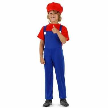 Loodgieter kostuum rood kinderen