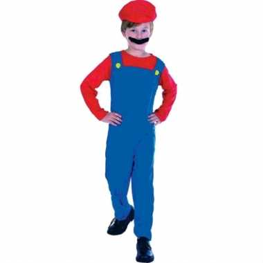 Loodgieter mario verkleed kostuum kinderen