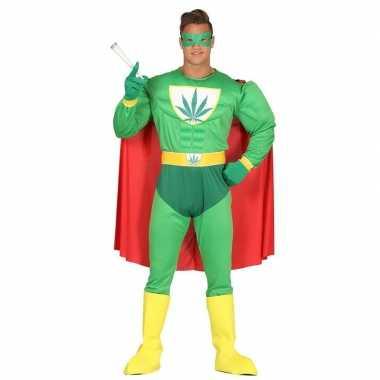 Marihuana man superheld verkleed kostuum heren