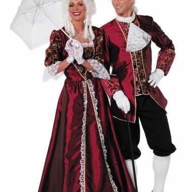 Markiezin kostuum bordeaux dames