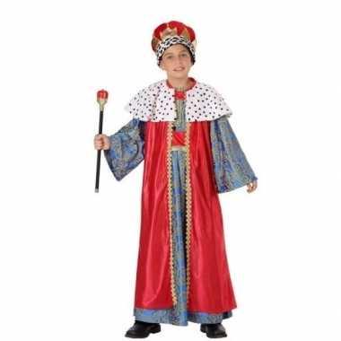 Melchior drie wijzen kostuum kinderen rood