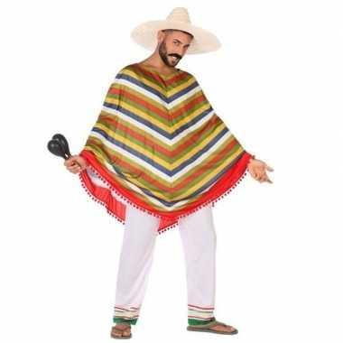 Mexicaans verkleed kostuum/poncho heren