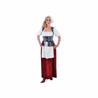 Middeleeuwse boerin kostuum dames