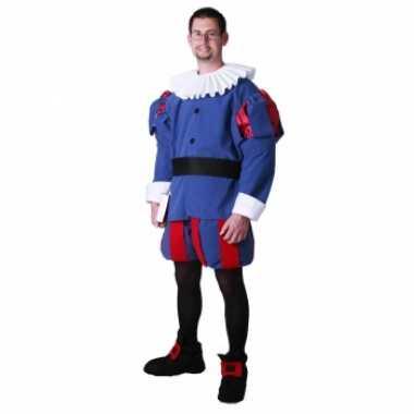 Middeleeuwse edelman kostuum blauw