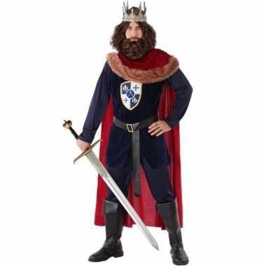 Middeleeuwse koning verkleed kostuum heren