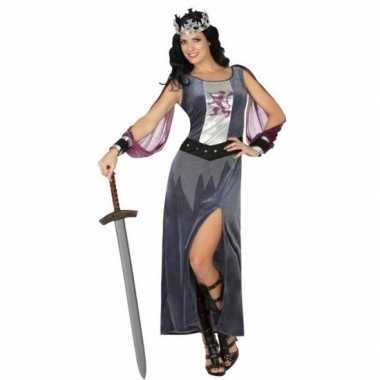 Middeleeuwse koningin victoria verkleed kostuum/jurk dames