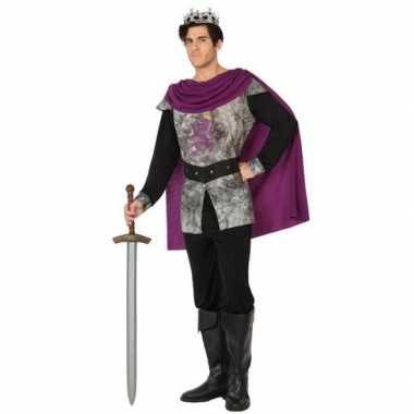 Middeleeuwse ridder/koning verkleed kostuum heren