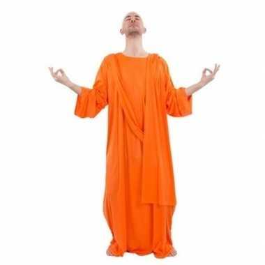 Monnik kostuum oranje heren