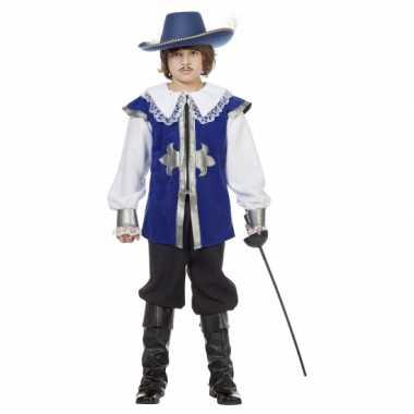 Musketier Carnavalskostuum blauw