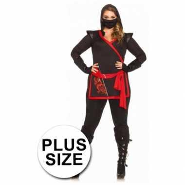 Ninja kostuum dames grote maten
