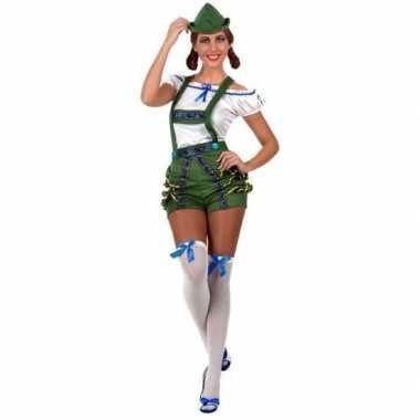 Oktoberfest sexy oktoberfest verkleed pak/kostuum groen dames