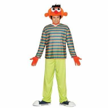Oranje pop ernie verkleed kostuum heren
