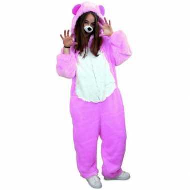 Paars beren kostuum volwassenen