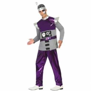Paars robot kostuum heren