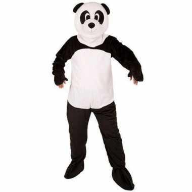 Pandabeer kostuum groot masker