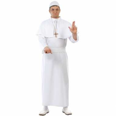 Paus kostuum wit 4 delig