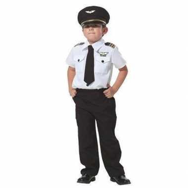 Piloot verkleed kostuum kinderen