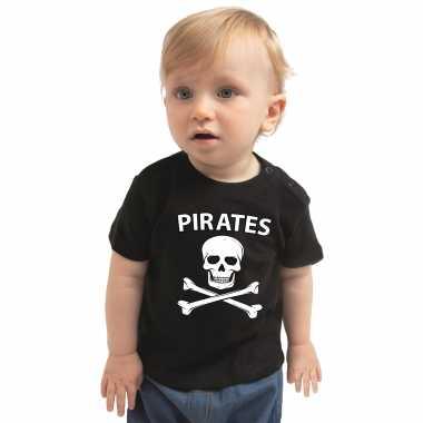 Piraten kostuum shirt zwart babys