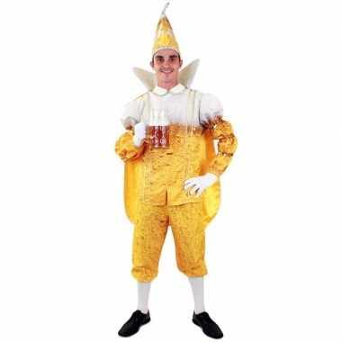 Prins carnaval pils/bier kostuum heren