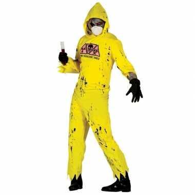 Radioactieve zombie kostuum heren
