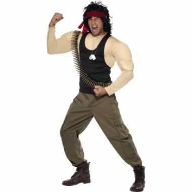 Rambo kostuum spieren heren