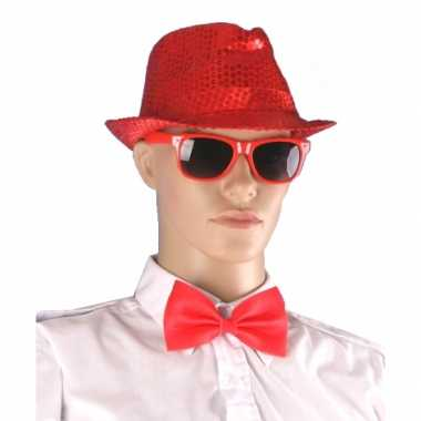 Rode accessoires kostuum