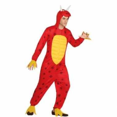 Rode draak kostuum heren