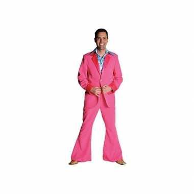 Roze disco kostuum heren
