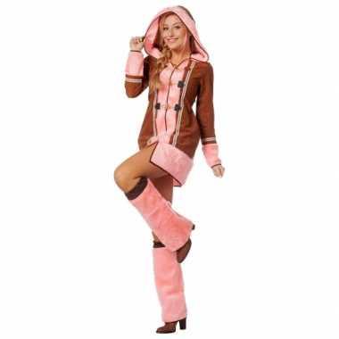 Roze eskimo kostuum dames