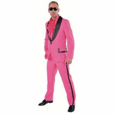 Roze gangnam kostuum heren