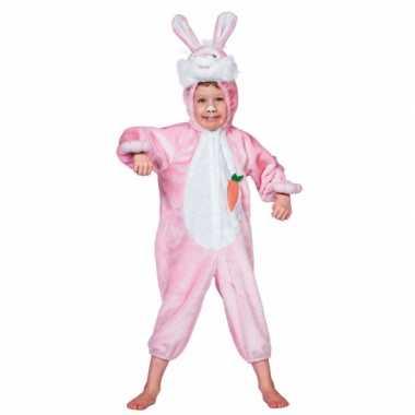 Roze konijnen kostuum kinderen