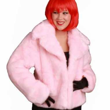 b7521905dba3e4 Roze korte bontjas dames