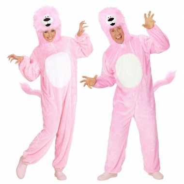 Roze leeuw kostuum