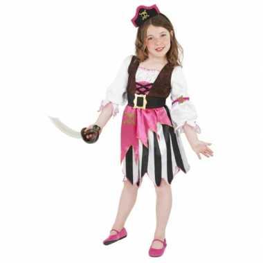 Roze piraten jurk kostuum