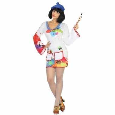 Schilder verkleed pak/kostuum dames