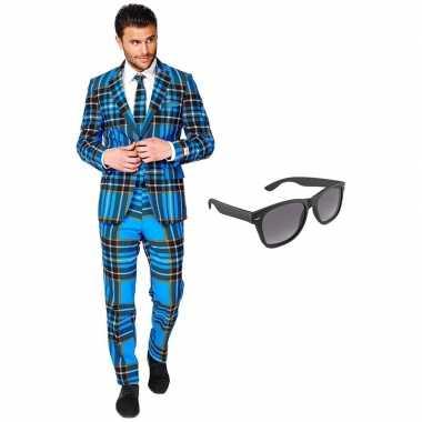 Schotse heren kostuum maat 56 (xxxl) gratis zonnebril