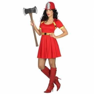 Sexy brandweerdames verkleed kostuum/jurkje dames