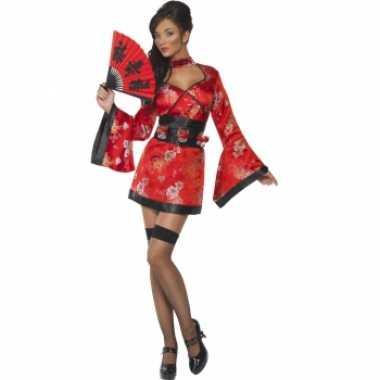 Sexy geisha kostuum shotglas riem