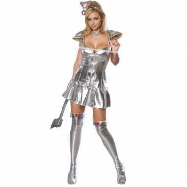 Sexy zilveren blik kostuum volwassen
