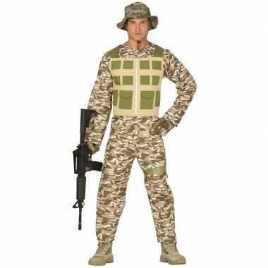 Soldaat verkleed pak/kostuum camouflage/woestijn heren
