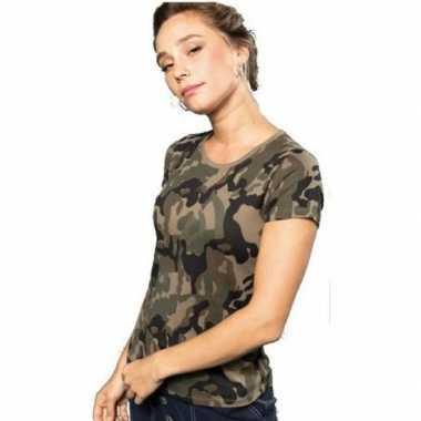 Soldaten / leger kostuum camouflage shirt dames