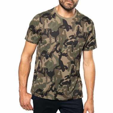 Soldaten / leger kostuum camouflage shirt heren