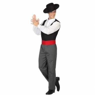 Spaanse flamencodanser verkleed kostuum heren