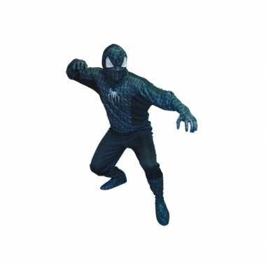 Spinnenheld kostuum zwart heren