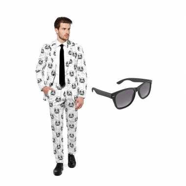 Stormtrooper heren kostuum maat 46 (s) gratis zonnebril