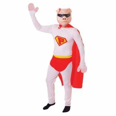 Super varken kostuum masker