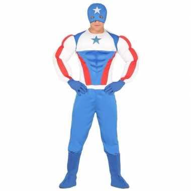 Superheld kapitein amerika kostuum heren